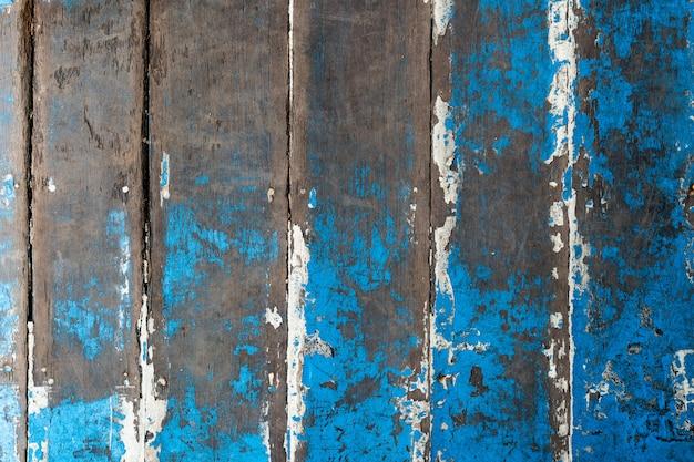 Stare drewno pomalowane na niebiesko, tekstury lub tła