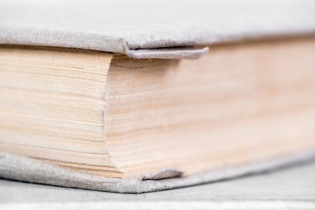 Stare książki, makro fotografii