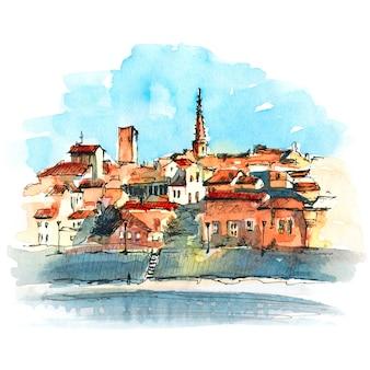 Stare miasto w arles, południowa francja