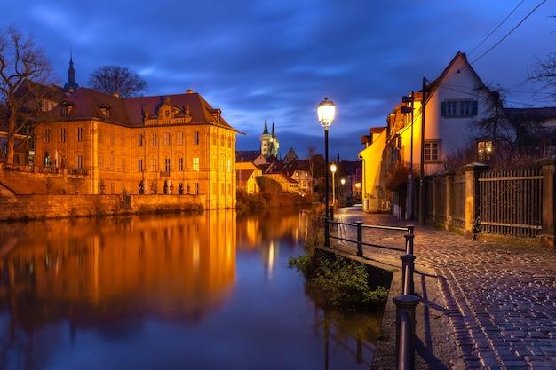 Stare miasto w bambergu, bawaria, niemcy