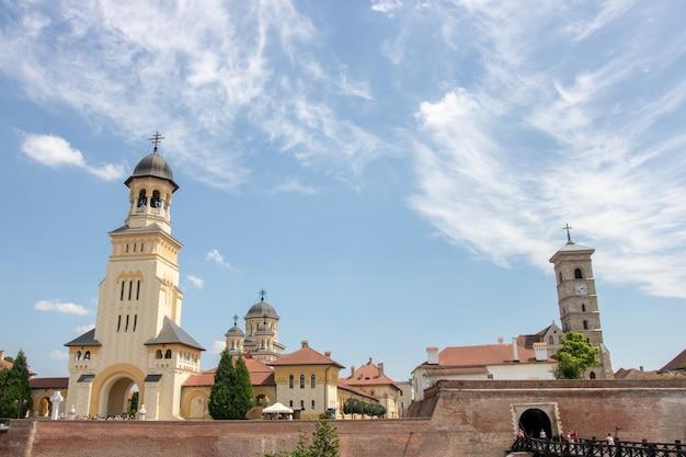 Stare miasto w rumunii. alba, rumunia