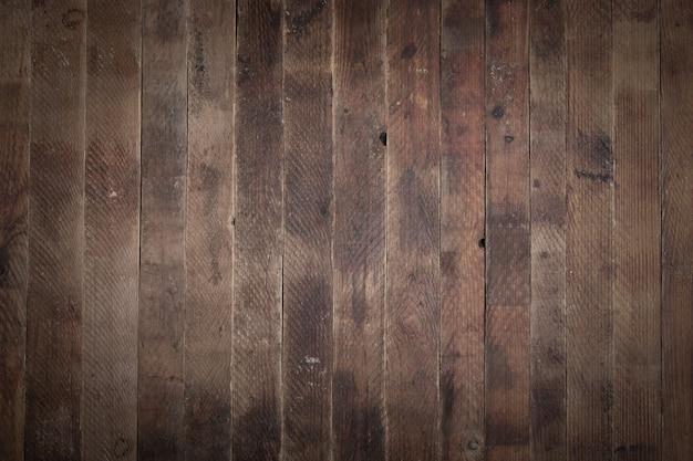 Stare naturalne zniszczone odrapane drewniane tło składa się z rzędu pionowych desek.