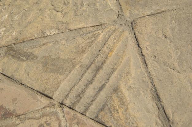 Stare orientalne płytki podłogowe z kamienia