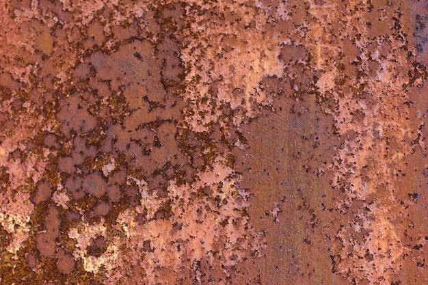 Stare zardzewiałe abstrakcyjne tło blachy, rdza na malowanej wyblakłej blasze stalowej