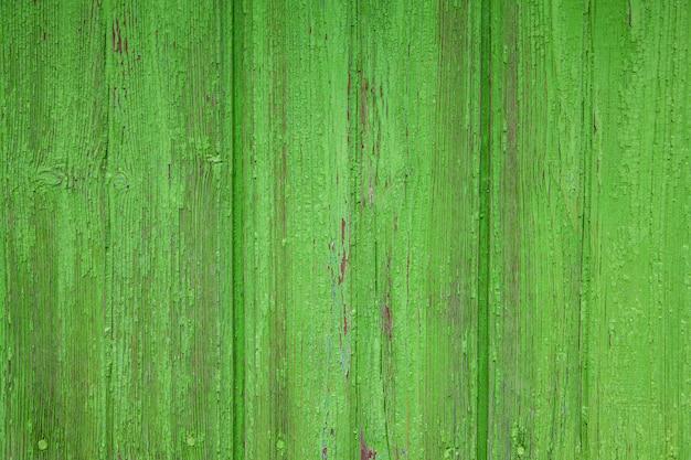 Stare zielone deski, tekstury i tło.