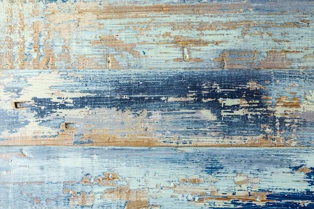 Starego grunge błękitny drewniany textured tło.