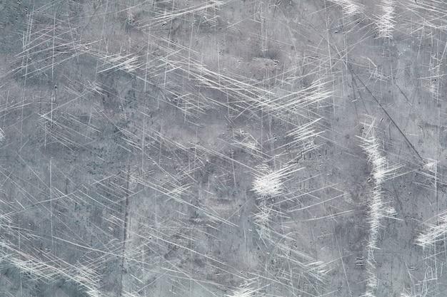 Starożytna metalowa ściana, żelazna tekstura z zadrapaniami i zadrapaniami