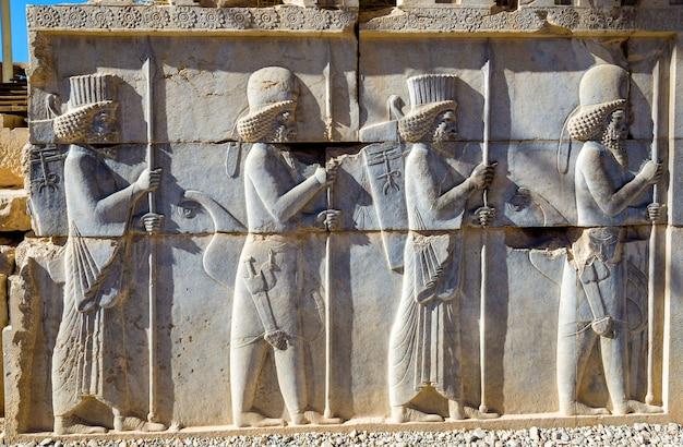 Starożytna perska rzeźba w persepolis - iran