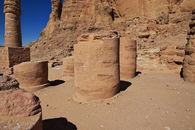 Starożytna świątynia faraona w jebel barkal, sudan