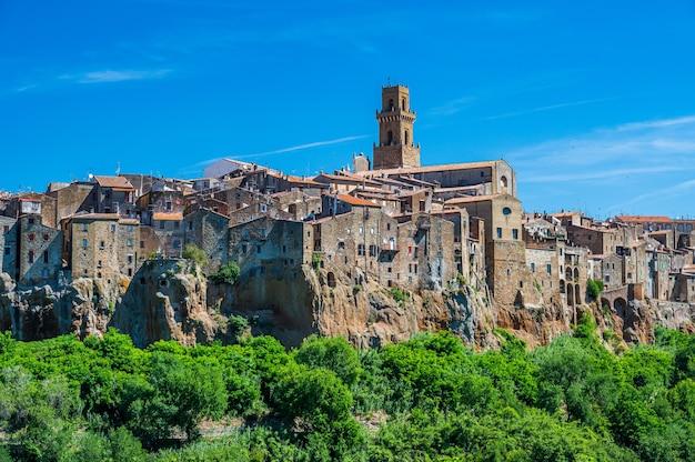 Starożytna wioska pitigliano w pobliżu grosseto, znana również jako mała jerozolima