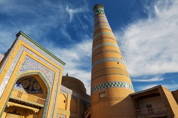 Starożytne miasto khiva, uzbekistan.