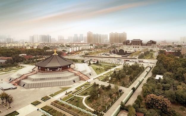 Starożytne miasto luoyang, henan, chiny.