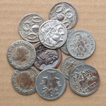 Starożytne monety rzymskie i greckie