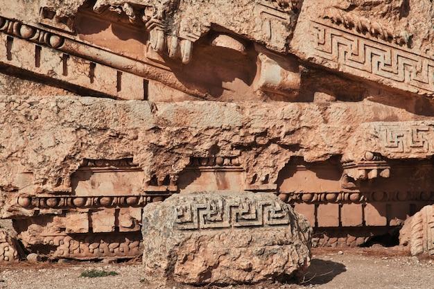 Starożytne ruiny baalbek, liban