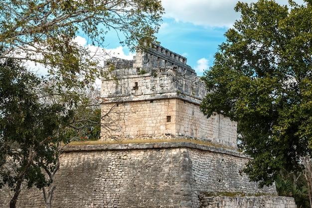 Starożytne ruiny w chichen itza