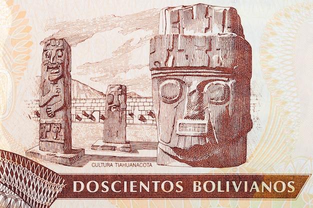 Starożytne rzeźby z boliwijskich pieniędzy