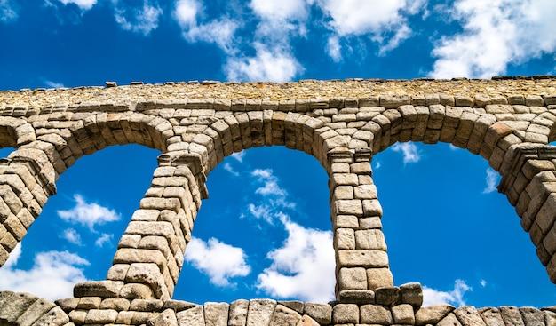 Starożytny rzymski akwedukt w segowii w hiszpanii