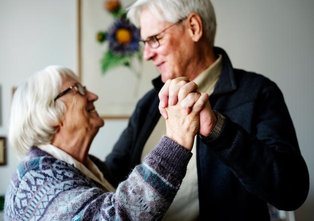 Starszy para taniec
