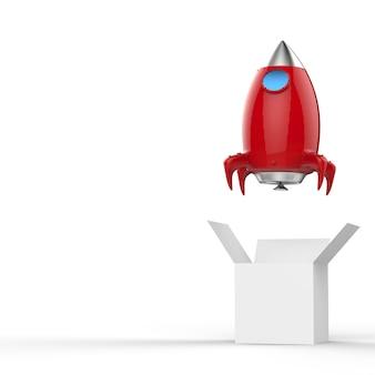 Start promu kosmicznego po wyjęciu z pudełka