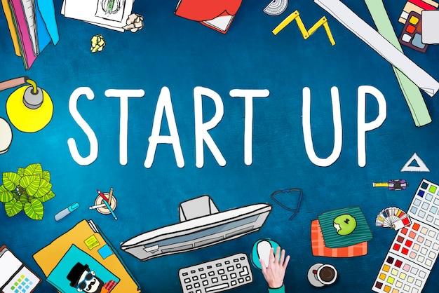 Start up business opportunity development success concept