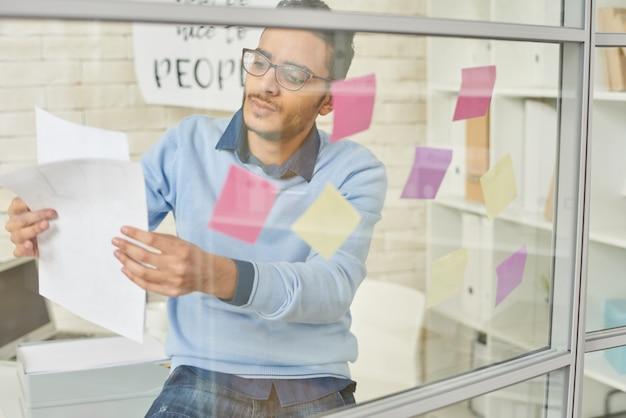 Startup entrepreneur planning project