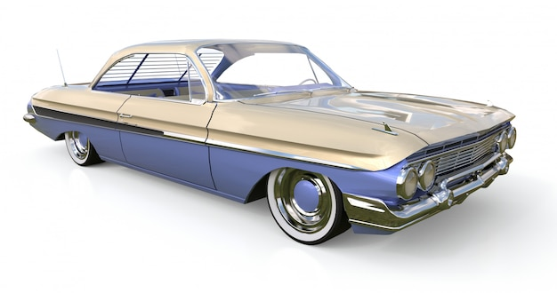 Stary amerykański samochód w doskonałym stanie. renderowania 3d.