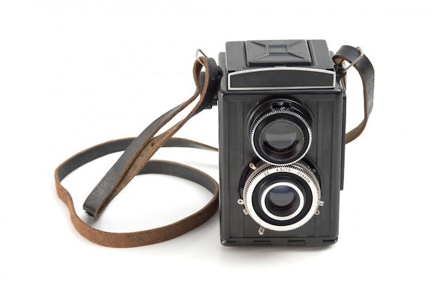 Stary aparat na białym tle