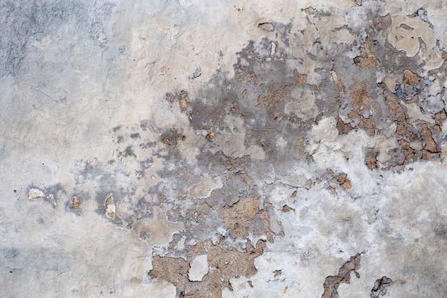 Stary betonowej ściany tło z krakingową farbą. tekstury cementu.