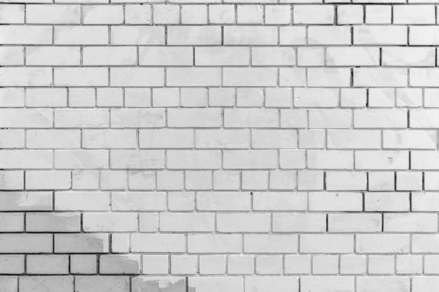 Stary biały ściana z cegieł tekstury tła copyspace