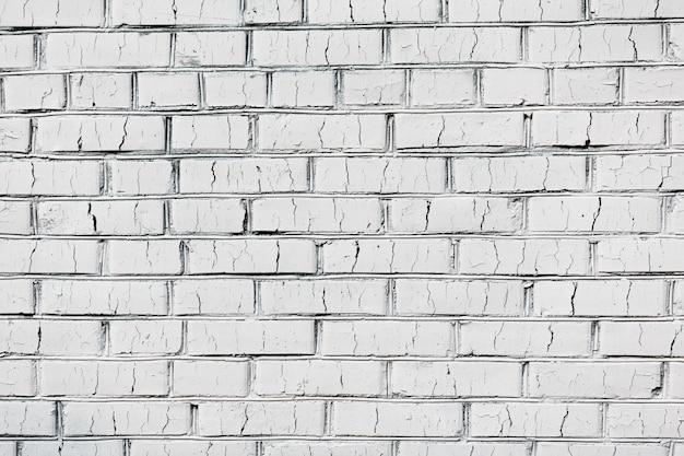 Stary biały ściana z cegieł tekstury tło