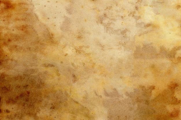 Stary brązowy papier grunge streszczenie płynna kawa kolor tekstury.