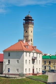 Stary budynek centralnej straży pożarnej. grodno, białoruś