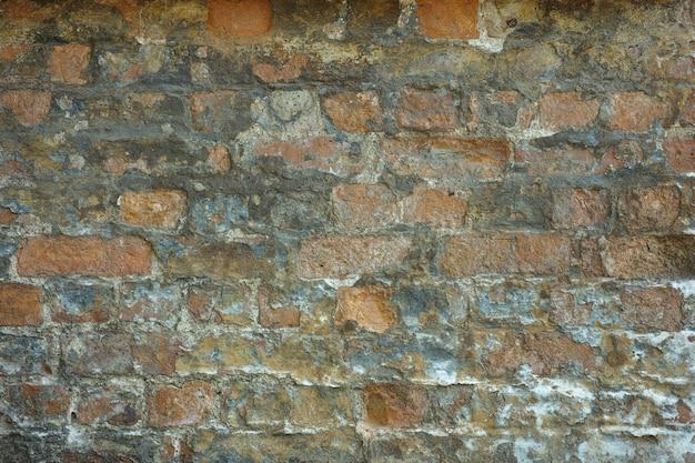 Stary ceglany mur obierania