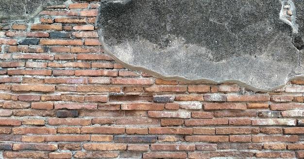 Stary ceglany mur tekstura tło