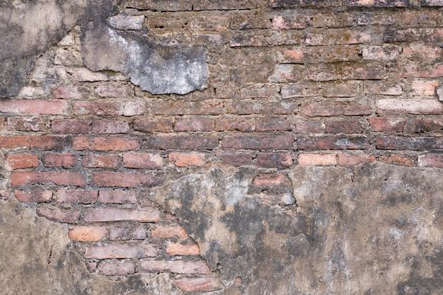 Stary ceglany mur w tle