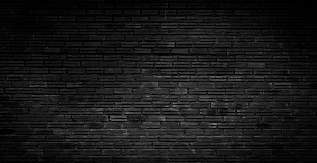 Stary ciemny czarny ceglany mur tekstura wzór tła