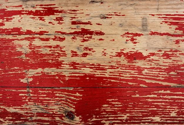 Stary czerwony drewniany teksturowany wzór tła