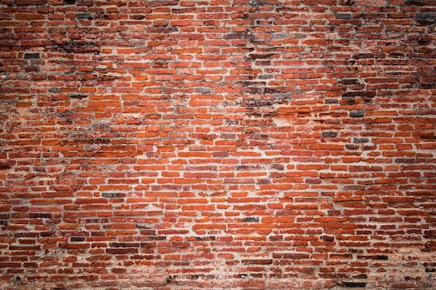 Stary czerwony mur z cegły tekstury tła