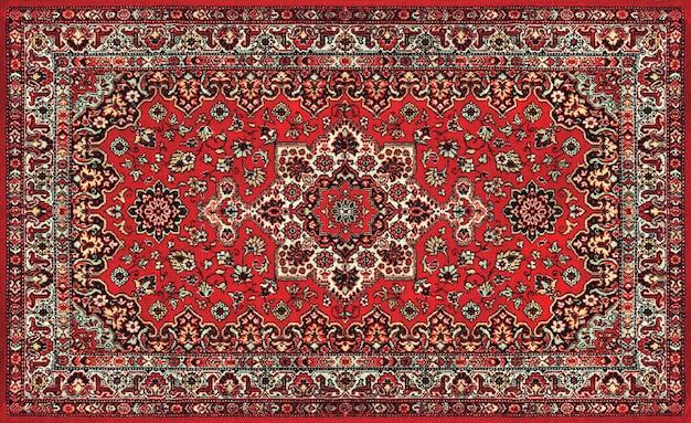 Stary czerwony perski dywan tekstury, abstrakcyjny ornament