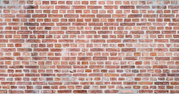 Stary czerwony ściana z cegieł tekstury tło