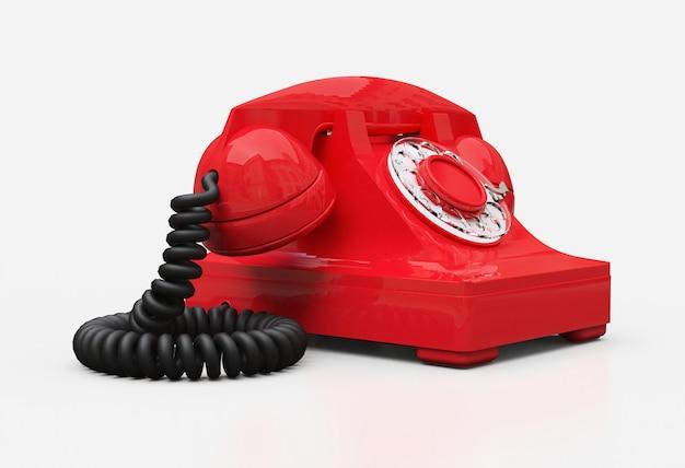 Stary czerwony telefon