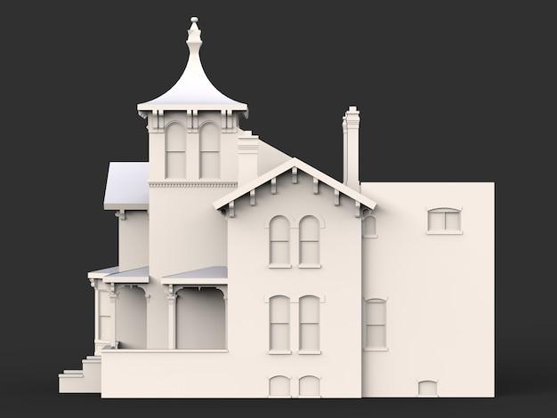 Stary dom w stylu wiktoriańskim