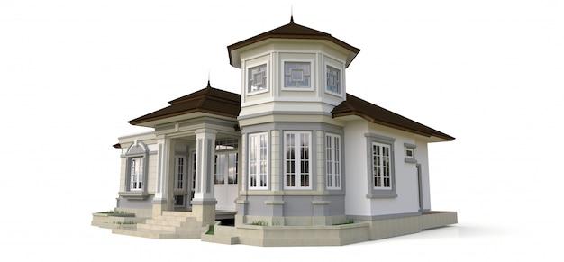 Stary dom w stylu wiktoriańskim.