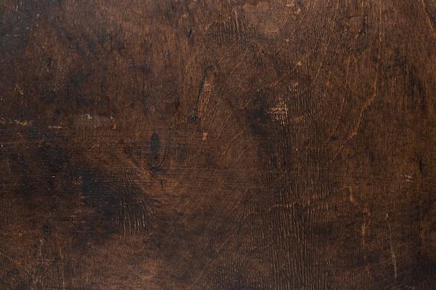 Stary drewniany stół grunge ciemna teksturowana powierzchnia