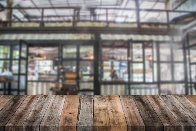 Stary drewno stół z plamy kawiarni backgorund
