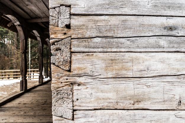 Stary dziennik drewna teksturowanej tło