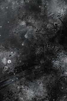 Stary grunge ciemne teksturowane drewniane tło zestaw, widok z góry płasko leżał, z kopią miejsca na tekst lub jedzenie czarny ciemny kamienny stół tło