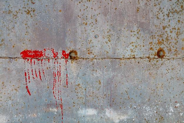 Stary grunge tło wielobarwny zardzewiały metalowej powierzchni
