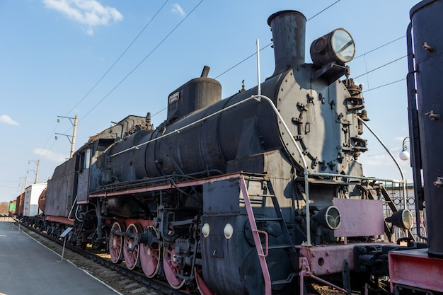 Stary historyczny retro pociąg retro