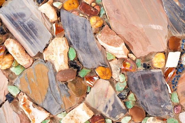Stary kamiennej ściany tekstury tło, podłoga